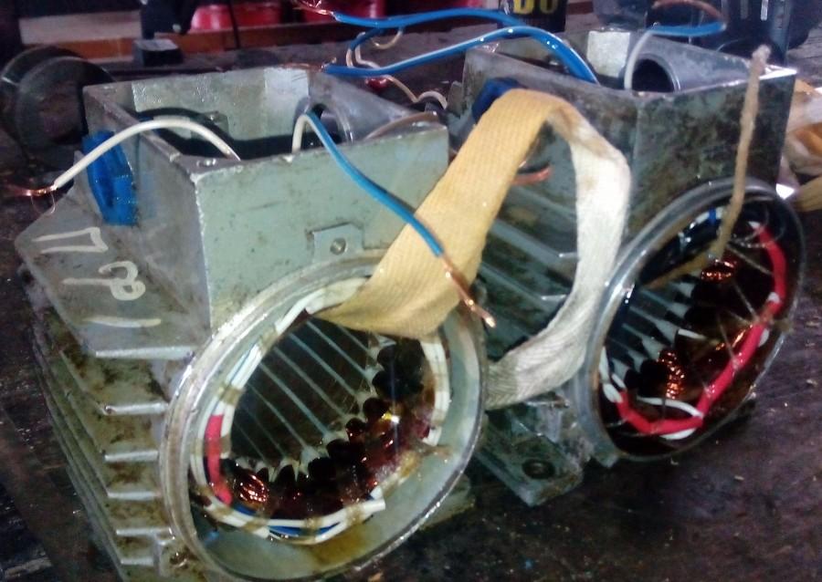 Перемотка статора асинхронного электродвигателя