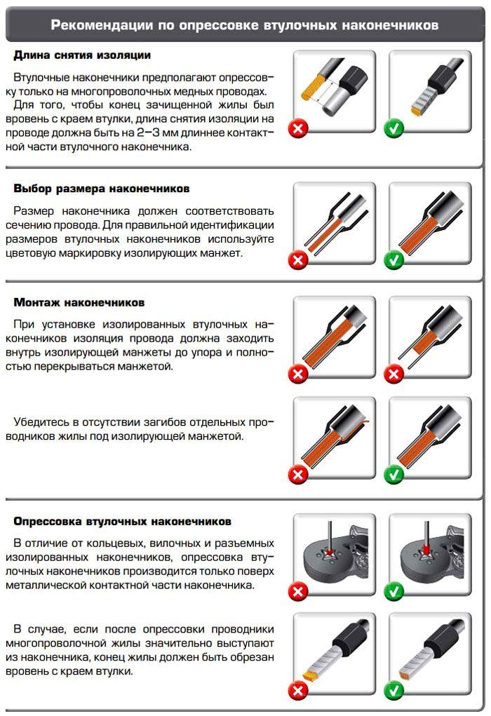 Опрессовка проводов наконечниками